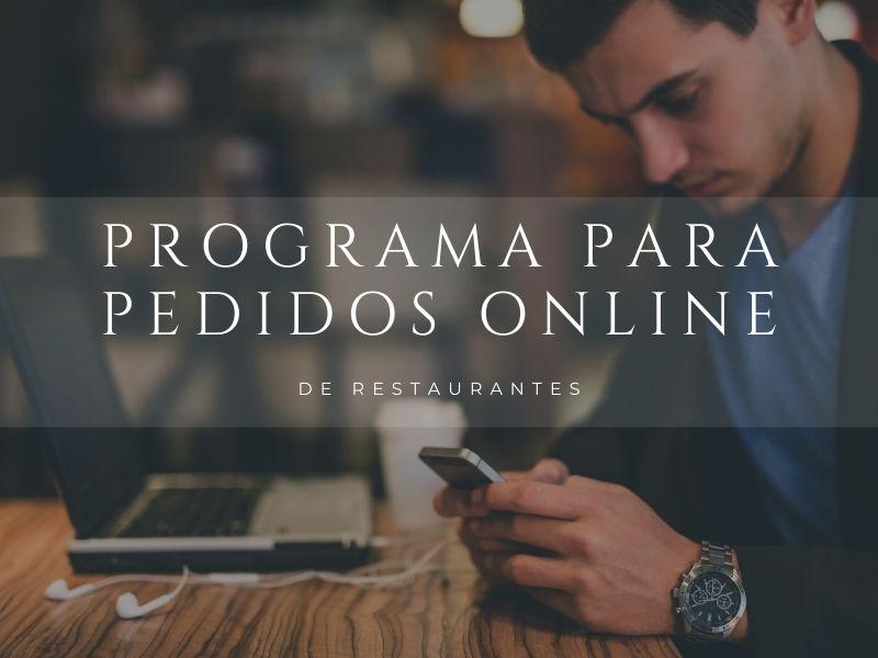 Programa pedidos online para restaurantes